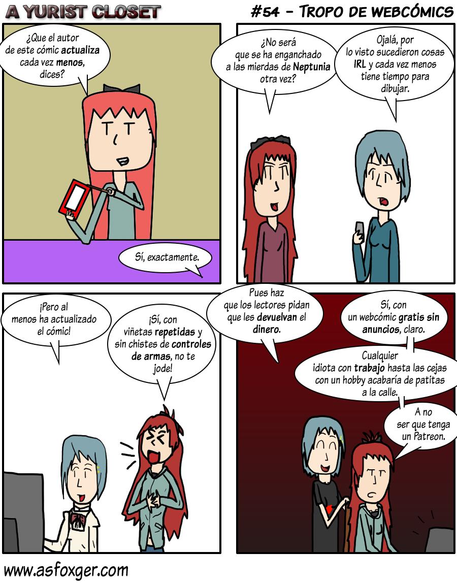 Tropo de webcómics